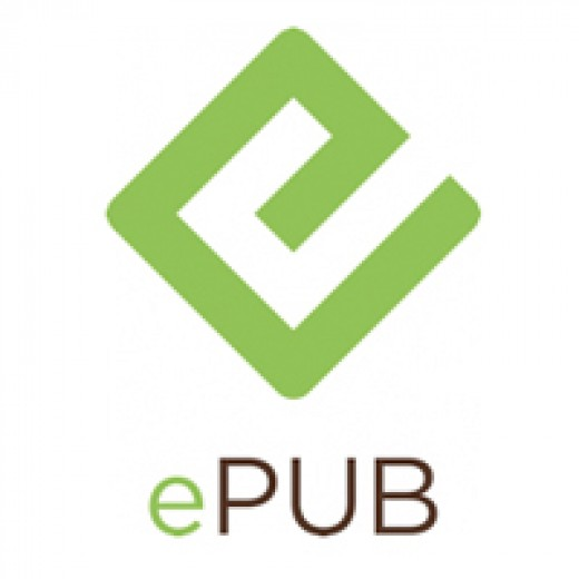 ePub Logo, the most widely accepted ebook format.