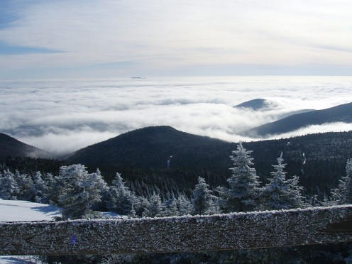 Notice the clouds in the background of Killington.