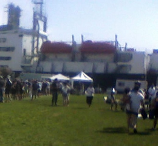 Food and festivities at Massachusetts Maritime Academy.