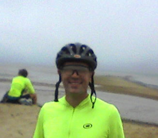 Me at the beach Rest Stop in Eastham, Massachusetts