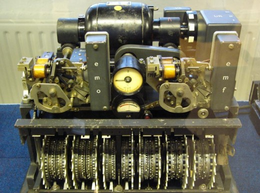 Lorenz SZ42 cipher machine on display at Bletchley Park gives an idea of the complexity of the system when you see the number of cylinders (12) that gave a range of possibly 16 million million message possibilities.