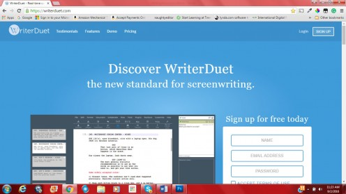 WriterDuet front page