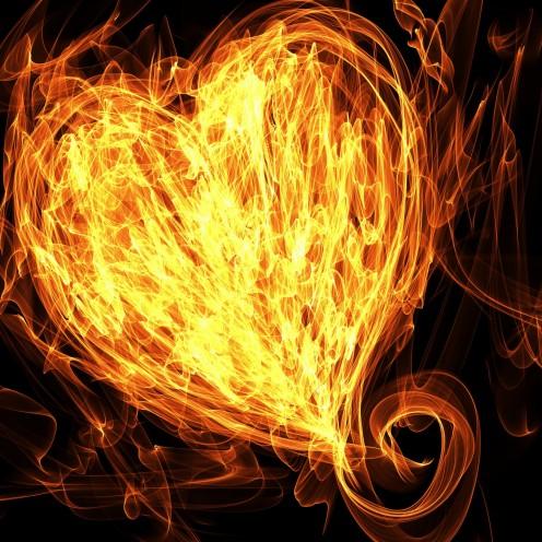 The Heart Flaming Like A Diamond