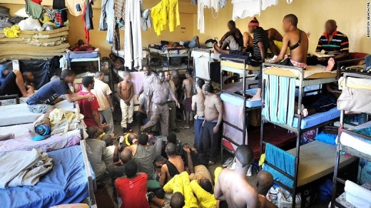 Overcrowded prisons - the results of South Africa's  excessive crime rate