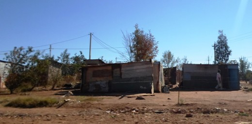 Countless informal settlements all over the country due to urbanization of unemployed farm workers and miners