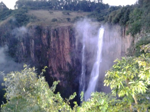 Many beautiful water falls in South Africa. This one is the Howick Falls in Kwazulu-Natal