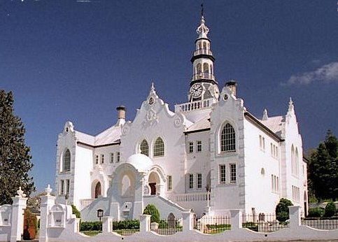 Beautiful buildings in South Africa. This is a church in Swellendam