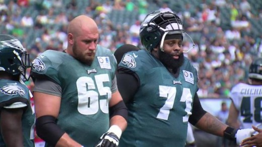 Will RT Lane Johnson (L) and LT Jason Peters (R) play much this season?