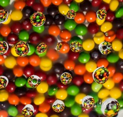 Photography With Water Drops & Candy