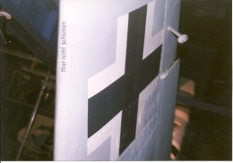 Wing roundel on the Bf 109 at the National Air & Space Museum, Washington, DC 1999.