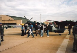A Spitfire at the Andrews AFB Open House, 2005.