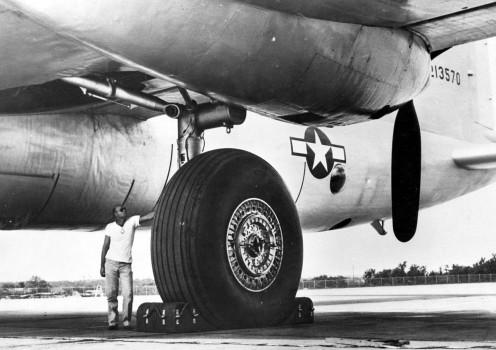 The B-36 landing gear.