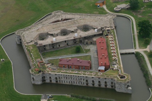 Aerial View of Fort Delaware
