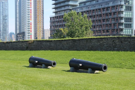 Canons at Fort York