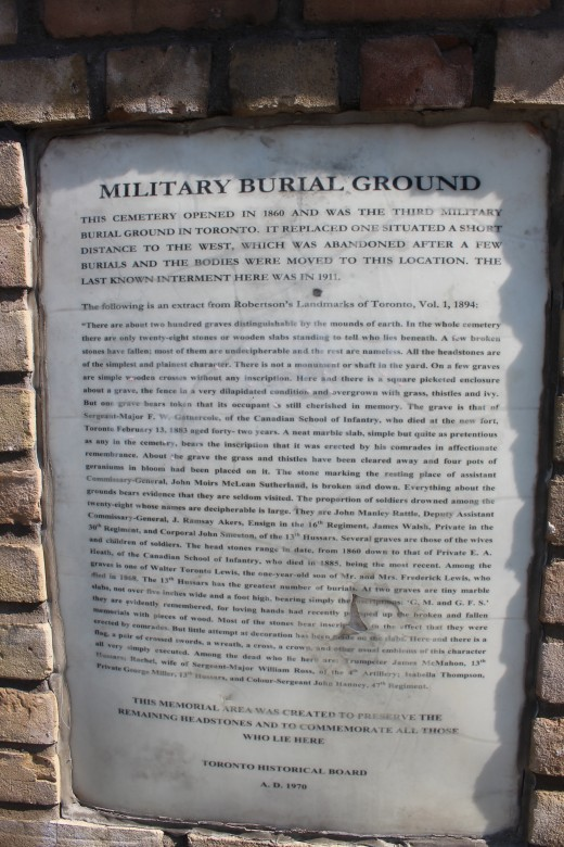 1970 Plaque - Toronto Historical Board
