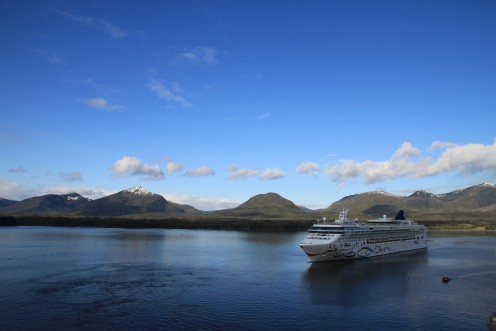 Cruises are popular around the Alaskan Panhandle.