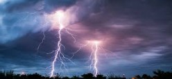 Lightning Strikes With Rooted Rays Of Light