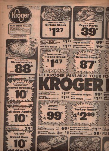 Kroger print ads in the 1950's