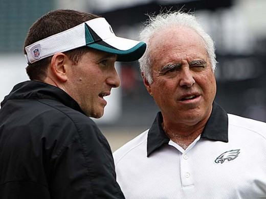 Eagles GM Howie Roseman (L) and owner Jeffrey Lurie (R)