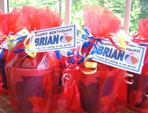 Pool Party favors I made for my nephews birthday party.