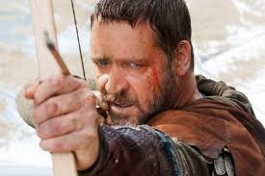 Russell Crowe took a big screen Robin Hood turn, as well