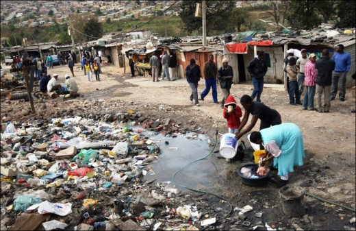 Poor people living in horrible conditions!