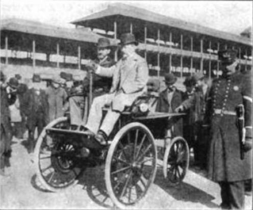 1894 Electrobat high-wheeled car.