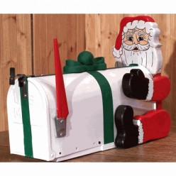 Santa Loves this Mailbox... Maybe Too Much