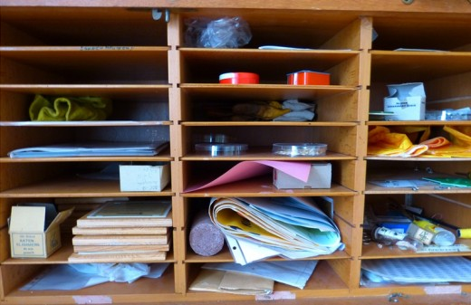 Cluttered drawers, shelves, etc are unsightly. But they could be choked full of things to write about.