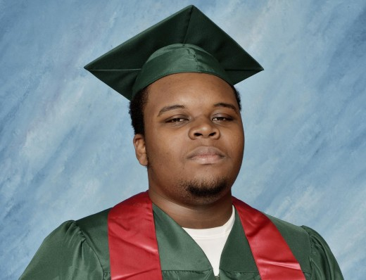 an image of Michael Brown that was made popular after his death by the Black Lives Matter movement to replace more harmful images of him that were portrayed in the media