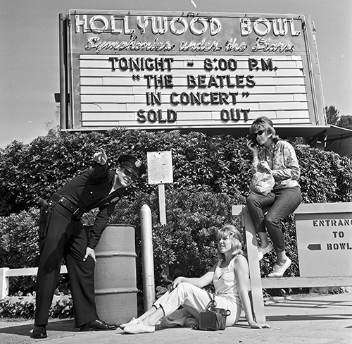 Sign outside Hollywood Bowl during 1960s