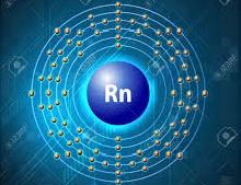 Radon atom ( valance shell has 8 electrons )