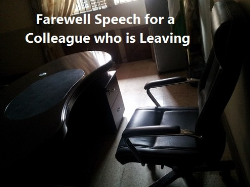 how to write a goodbye speech