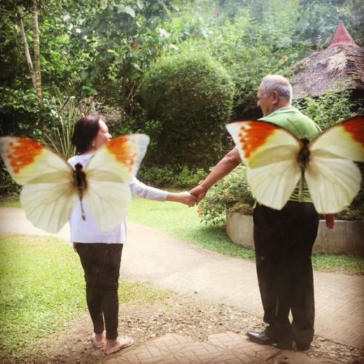 This was the only photo I have with the butterflies and its not with me, hehehe