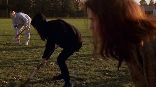 In the original script, the girls would have been playing lacrosse, but it was later changed to field hockey in the updated script and of course the film.
