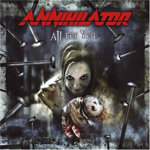 The album's cover shows a doll being experimented upon as the nails are put into its body. The doll is being tormented. The band has covered this subject in their song Never Neverland.