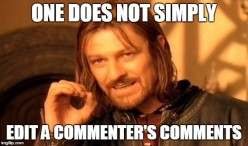 How do you feel about comment editbot?