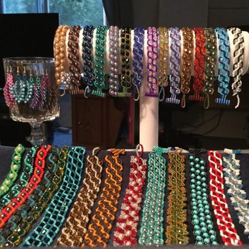Russian Snake Stitch Bracelets
