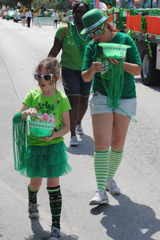 St. Patrick's Day Parade - taking a break.