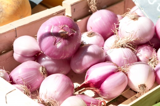 Sets are small dry onion bulbs grown the previous year.