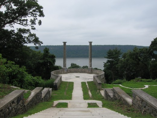 View of the Hudson River from Untermyer Park, known officially as the Untermyer Gardens Conservancy.