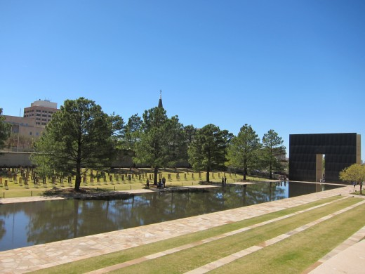 The former site of the Murrah Federal Building is now a memorial.