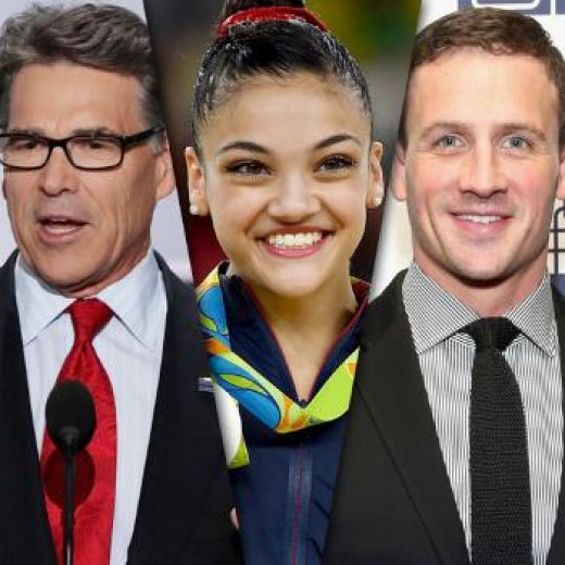 Former Governor Rick Perry, Olympian Gymnast Laurie Hernandez, Olympian Swimmer Ryan Lochte