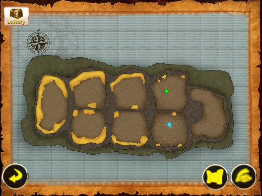 Treasure Cave map