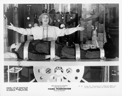 """Gene Wilder fiddles with the creation of life, leading to hilarious consequences in """"Young Frankenstein"""" (1974)."""