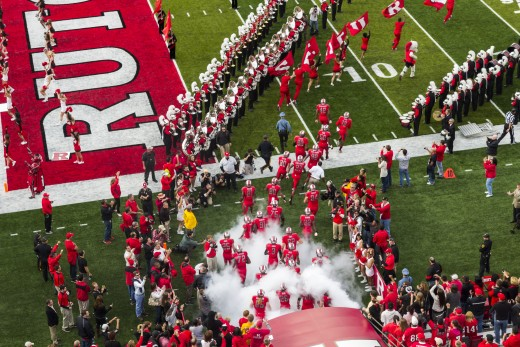 The Scarlet Knights enter