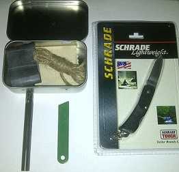 A fire starting kit is essential survival equipment