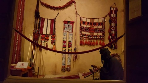 Al Sadu is a form of weaving, considered as one of the oldest forms of traditional crafts known by Bedouin women