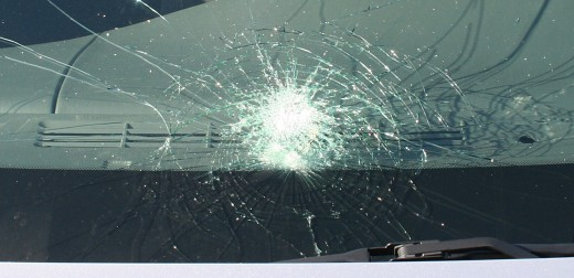 A car window glass can only be broken by a sharp pointed object and not a blunt one.