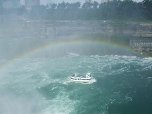 Ferry getting the tourists (drenched) back from Niagara Falls